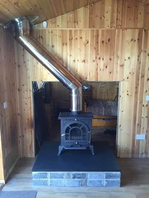 Fireplace & Multi Fuel Burner Completed Installation | Log-cabin Renovation