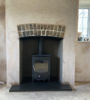 Finished log-burner installation
