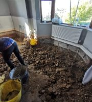 Floor being dug out