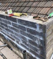 Parapet wall rebuild